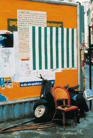 Daniel Buren, photo-souvenir: Affichage sauvage