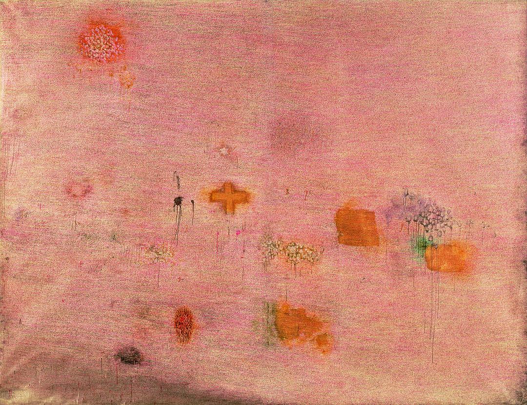 Simon Hantaï, Peinture (Ecriture rose)