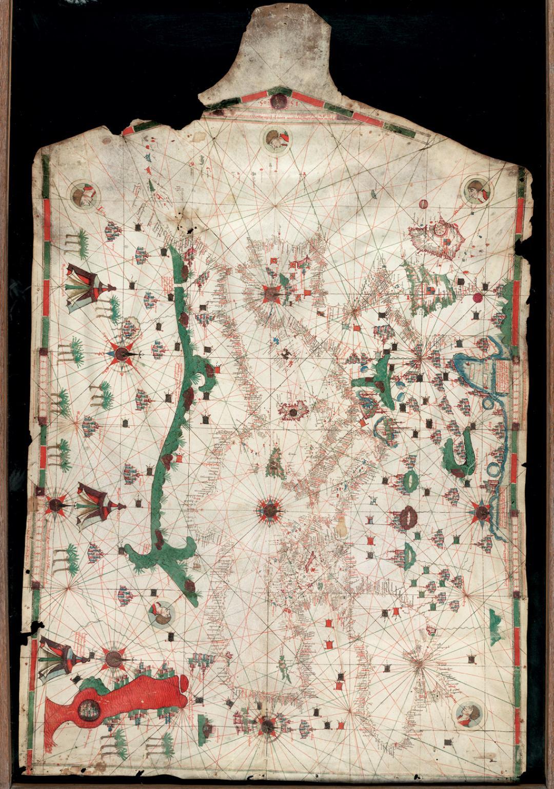 Jehuda Abenzara – Portolan Chart, 1500