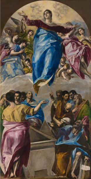 El Greco - The Assumption of the Virgin, 1577-79, high altar at Santo Domingo el Antiguo, Toledo.