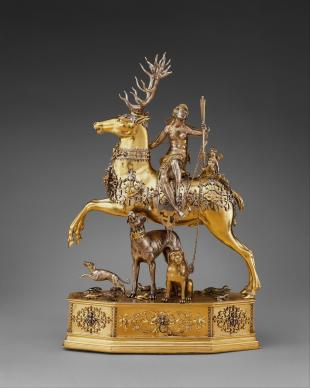 Joachim Friess (attributed), Diana and the Stag Automaton, 1620