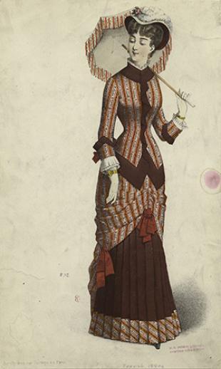 Woman in dress, Paris, 1880s