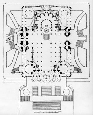 Plan for the Sagrada Familia