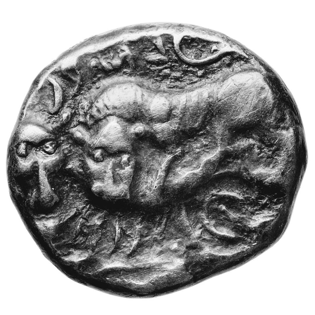 Silver drachma of Elpa'al, minted in Byblos, 4th c.