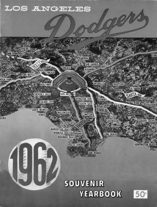 Dodgers program, 1962