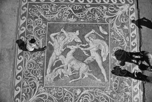 Mosaic from Pella house