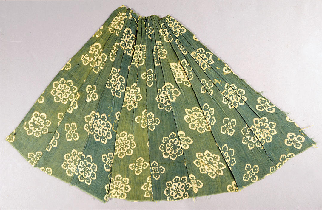 Printed, plain-weave silk skirt