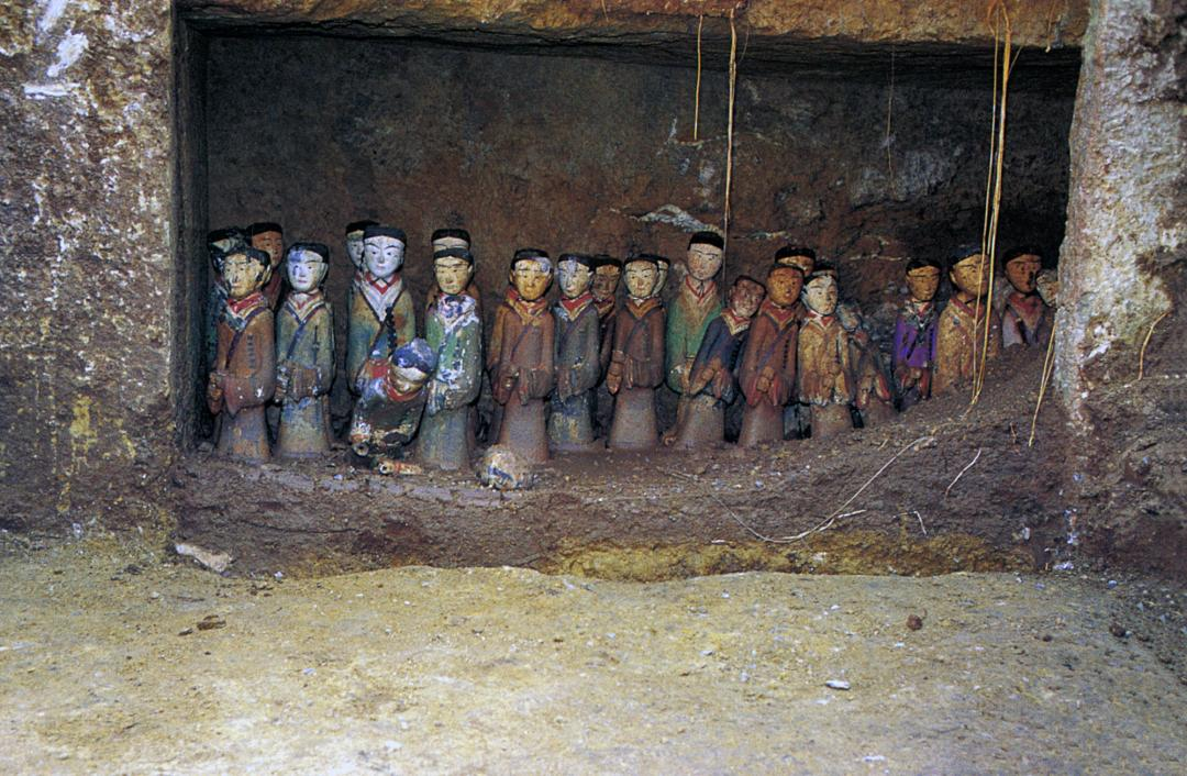 Painted clay figurines