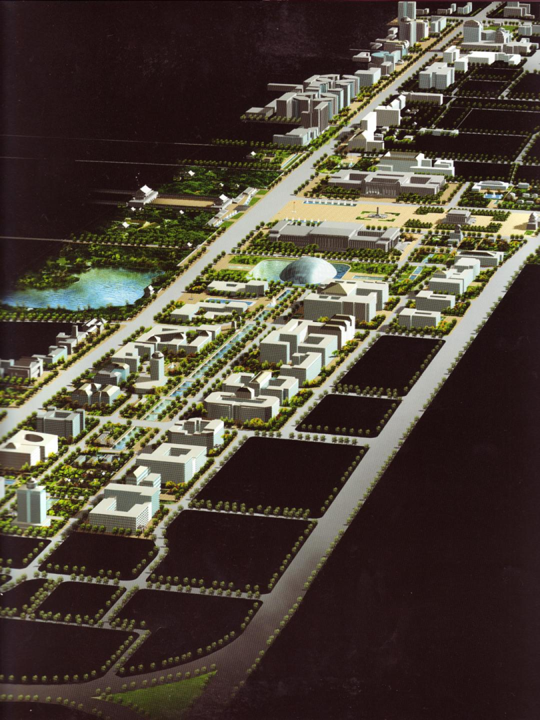 Computer-generated images for future Chang'an Avenue