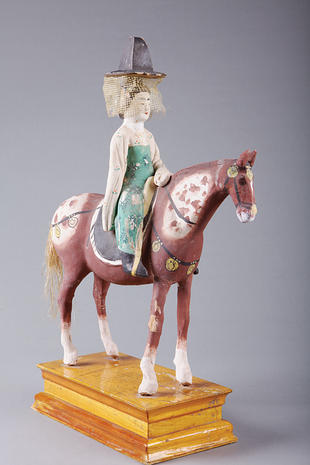 Female rider and horse
