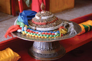 Heaped treasure-maṇḍala offering