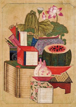 One panel of Ch'aekkŏri