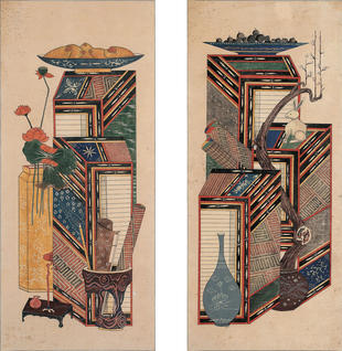 Two panels of Ch'aekkŏri