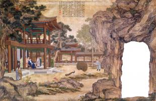 Qianlong Watching Peacocks in Their Pride