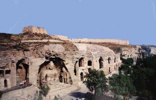 The caves at Yungang, Shanxi 〉