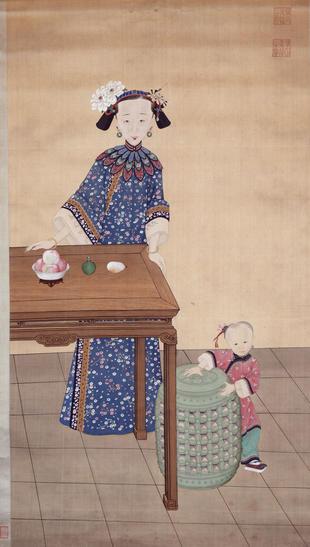 Empress Xiaoquncheng in Informal Dress