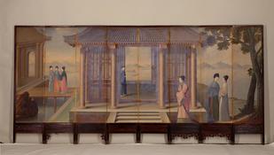Anonymous, Gentlewomen Screen, Kangxi period