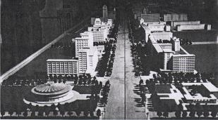 Model of Chang'an Avenue planning