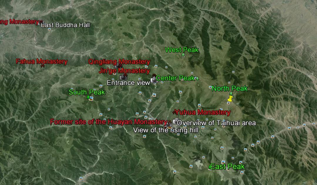 Mt. Wutai map